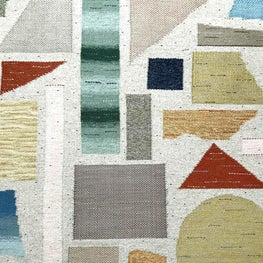 Terrazzo flatweave rug