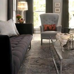 Winnetka eclectic modern living room