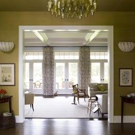 Hamptons Hallway and Living Room