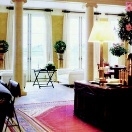 Living room of home in Southampton, New York