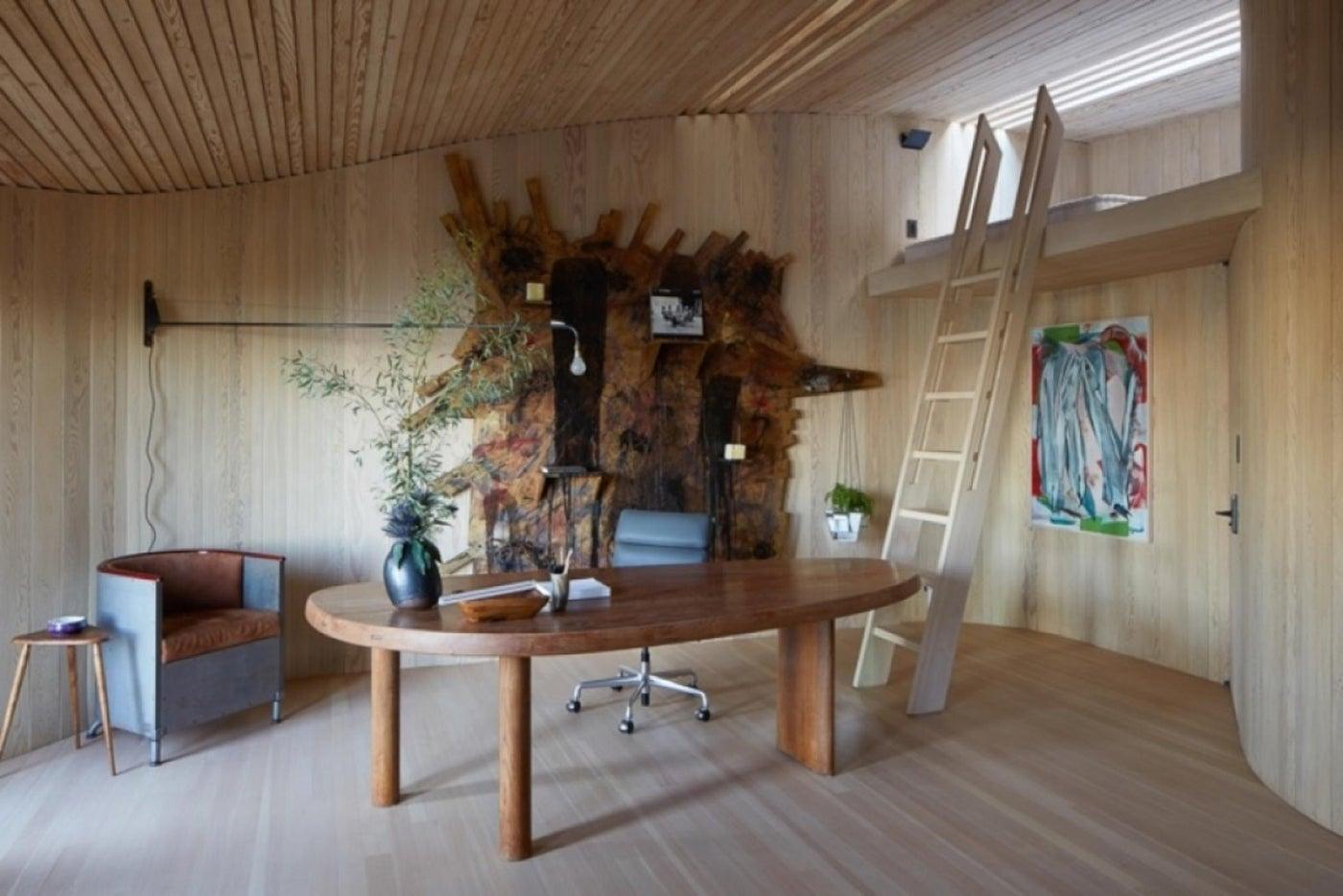 John Lautner Malibu Beach House - Office