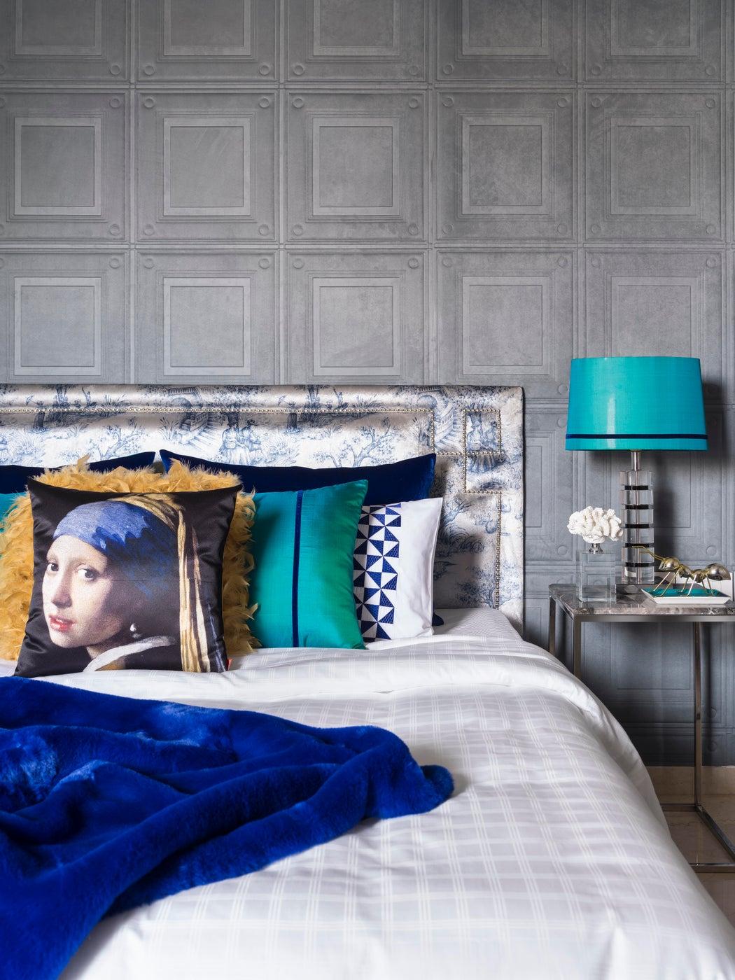 Eclectic Apartment, Bedroom, Customised Bedlinen