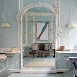 Traditional Home Holiday House Powder Room