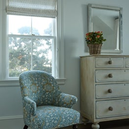 Chest of drawers in guest bedroom.