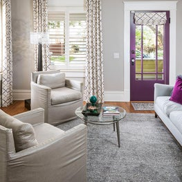 Cottage charm with a pop of berry