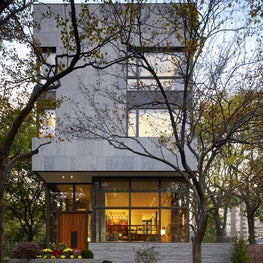 Lake Shore Single Family: Natural modernism for a home on the park