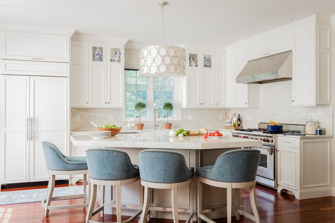 Wellesley (Blue and) White Kitchen