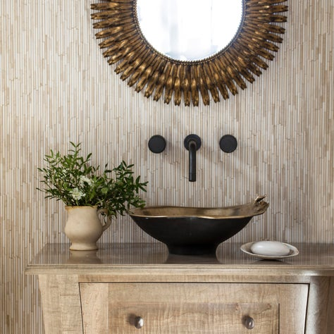 Coastal and Cute Powder Room