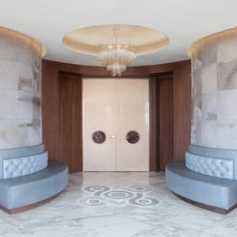 Cosmopolitan of Las Vegas - Foyer with pony hair panels & marble tile inlay