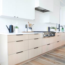 Contemporary kitchen at our Modern Kelowna project