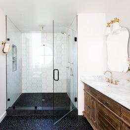 Mill Valley Rustic Glam Master bathroom