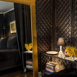 Lake Shore Drive Residence No. 2 Master Bedroom Detail with a Donghia Mirror.