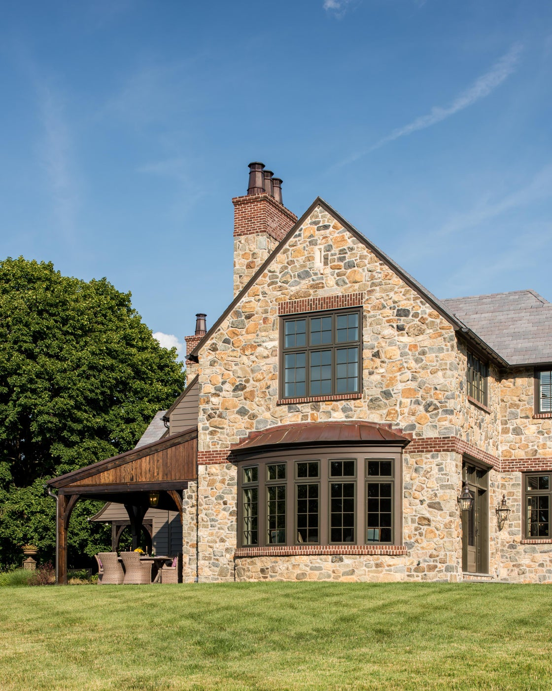 English Country House with round bay window in Greenville, Delaware