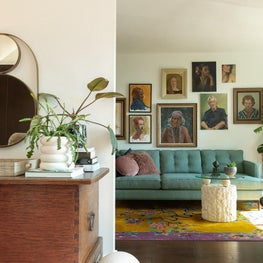 Eclectic, MidCentury Living Room