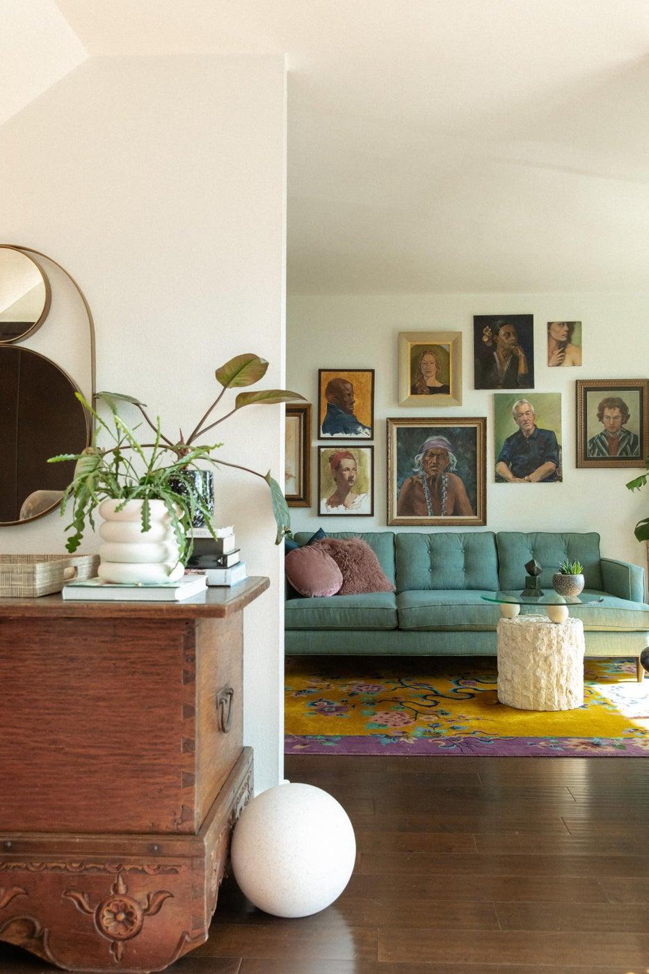 Eclectic, MidCentury Living Room