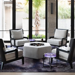 Cozy Sitting Area with Violet Hues