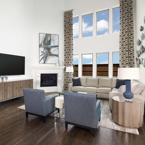 Frisco, TX Contemporary Living Room with Bold Art