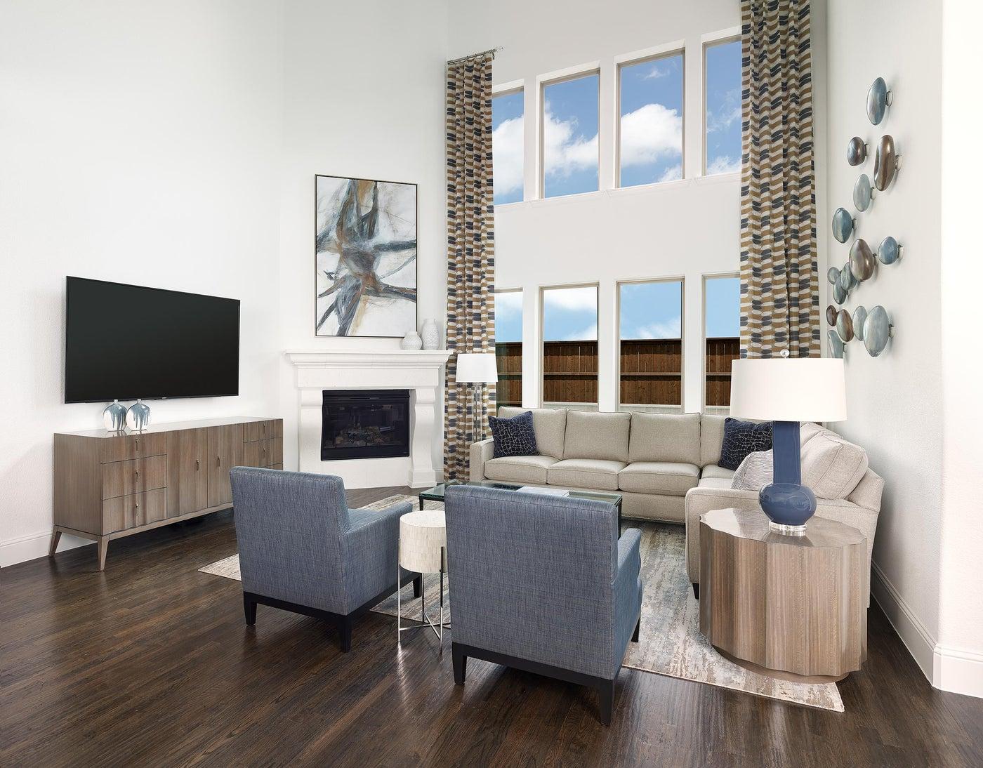 Frisco, TX Contemporary Living Room with Bold Art