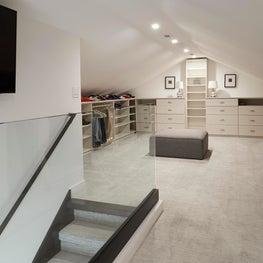 Wilmette Modern Home, Master Closet Design