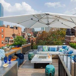 Back Bay Roof Deck with City Views