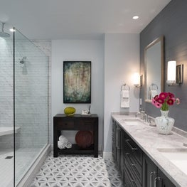 Bright & Airy Urban Master Bathroom