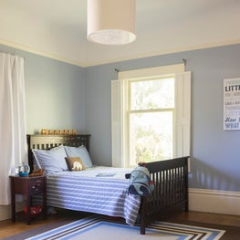 A Boy's Room to Grow Into with Pale Blue and Stripes