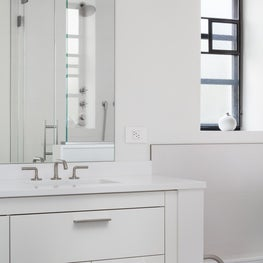Mid Century, NY State home, Master Bathroom
