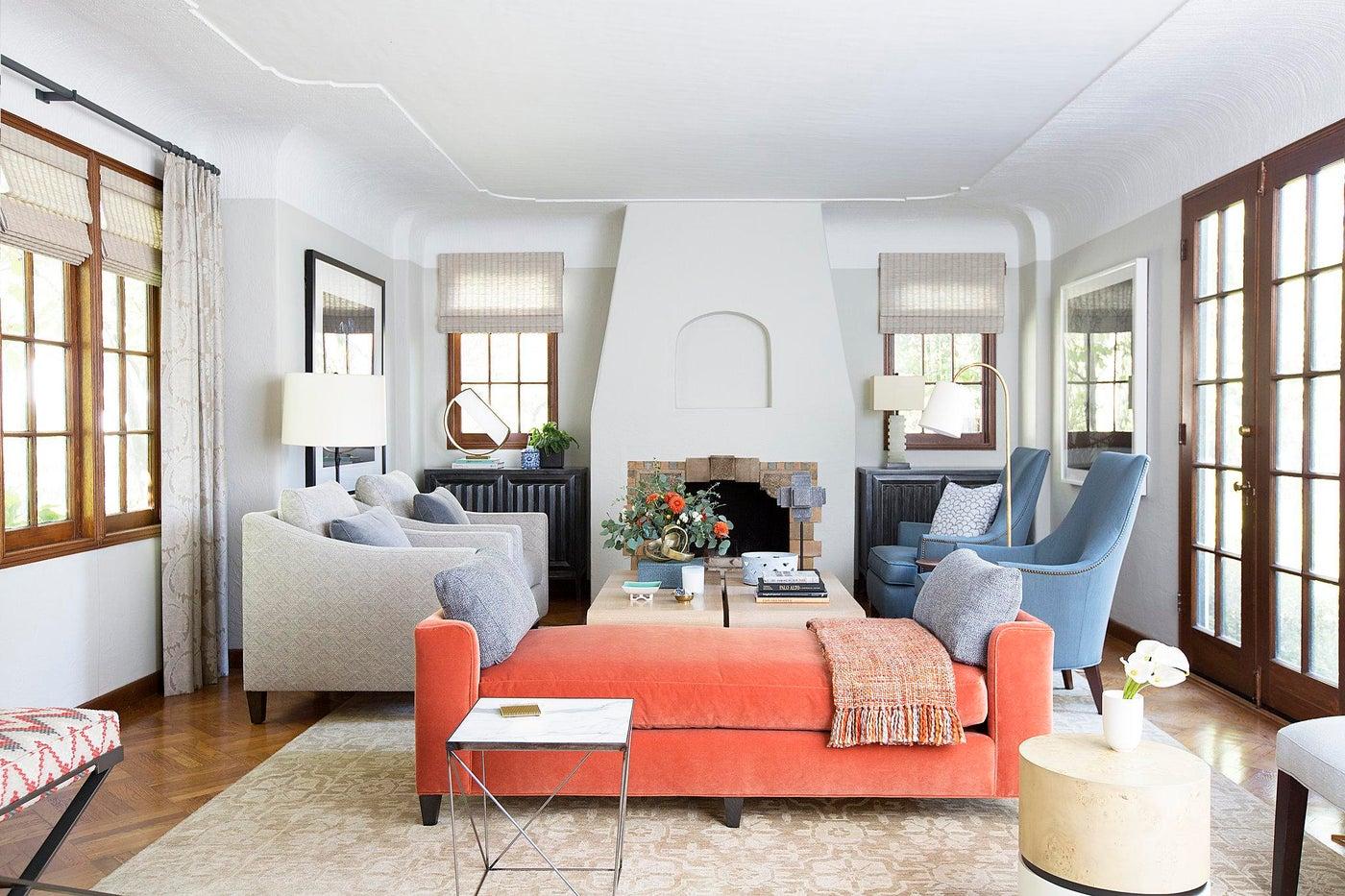 1920s Palo Alto Tudor, Living Room