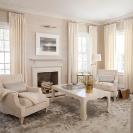 Neutral White and Grey Master Bedroom