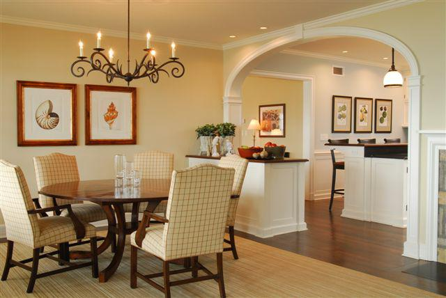 Transistional Dining Room On the Sound