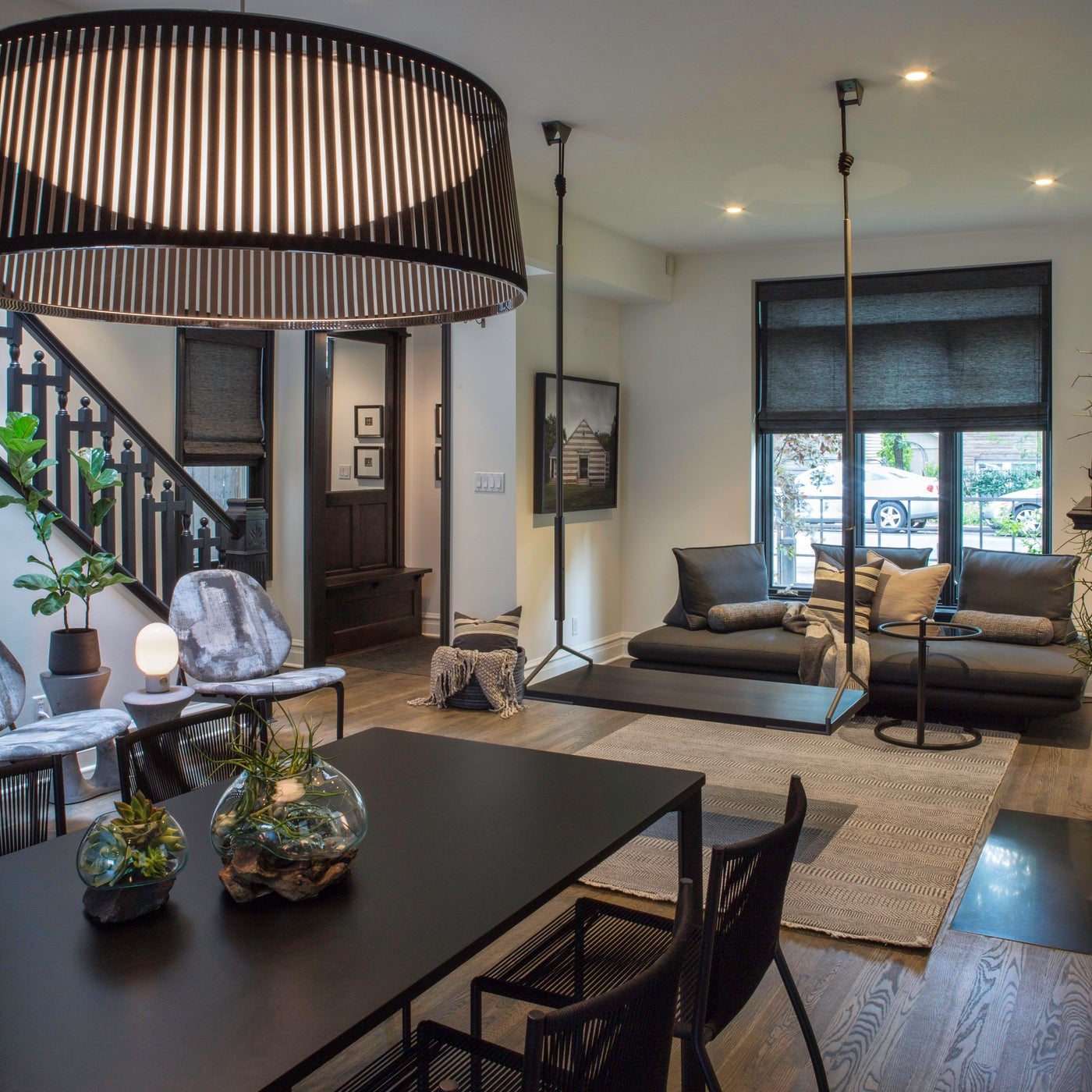 Bucktown vintage modern home with open concept living spaces