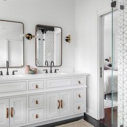 A Modern Black and White Bathroom