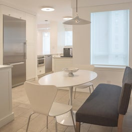 Soft Open Kitchen with Eat-in Table