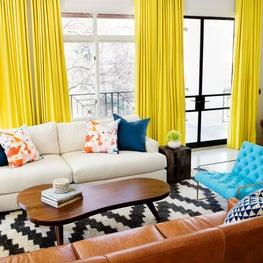 LA / Austin bachelor layered living room