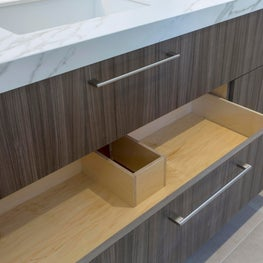Cleverly designed drawers create extra space.