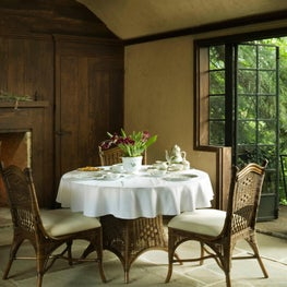 A distinguished Tea House is the perfect addition to the grounds in this Connecticut home.