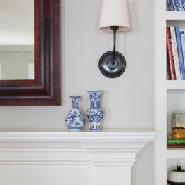 Mantle design inspired by client's childhood home