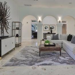 Modern Mediterranean great room