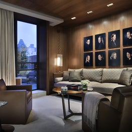 Sitting Room of Fifth Avenue Penthouse.