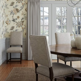Valley Road Dining Room with Floral Wallpaper