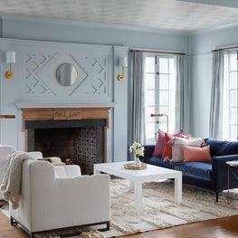 Modern Living Room, Boho Eclectic