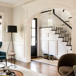 Newton Modern Entry and Formal Living Room