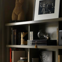 Gladwyne River House, Living Room Bookcase Detail