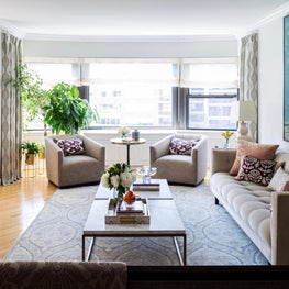 Open plan living room - condo, Sutton Place, Manhattan