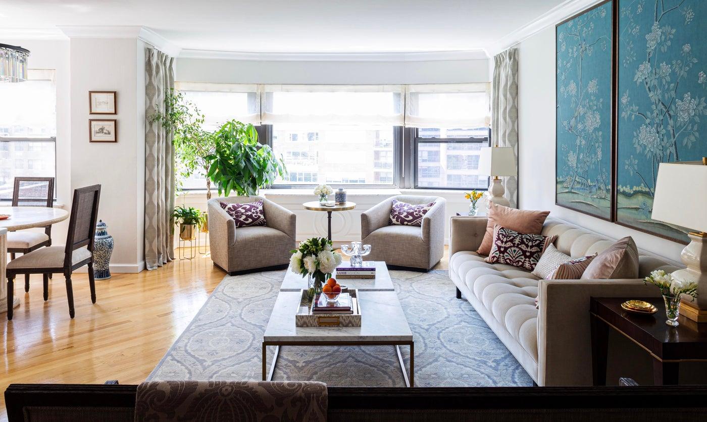 Open plan living room - condo, Sutton Place, Manhattan