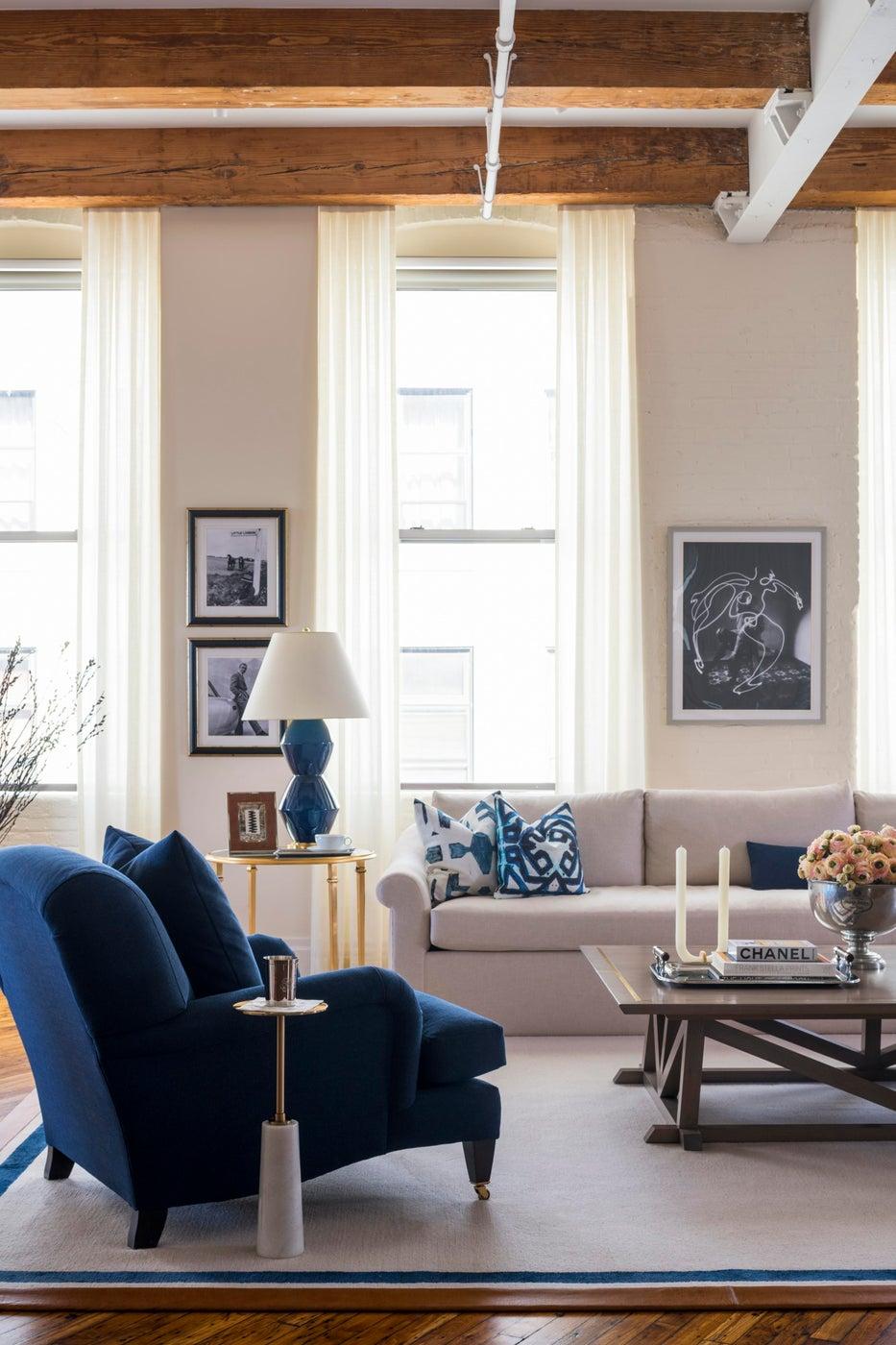 Living Room in Williamsburg Loft