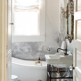 Victorian Modern Bathroom with Clawfoot Tub