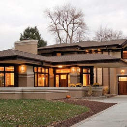 Frank Lloyd Wright Inspired Modern Prairie Home