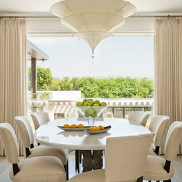 View of Dining Room at Manhattan Beach Residence