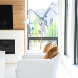 Living room at our Modern Kelowna Project.